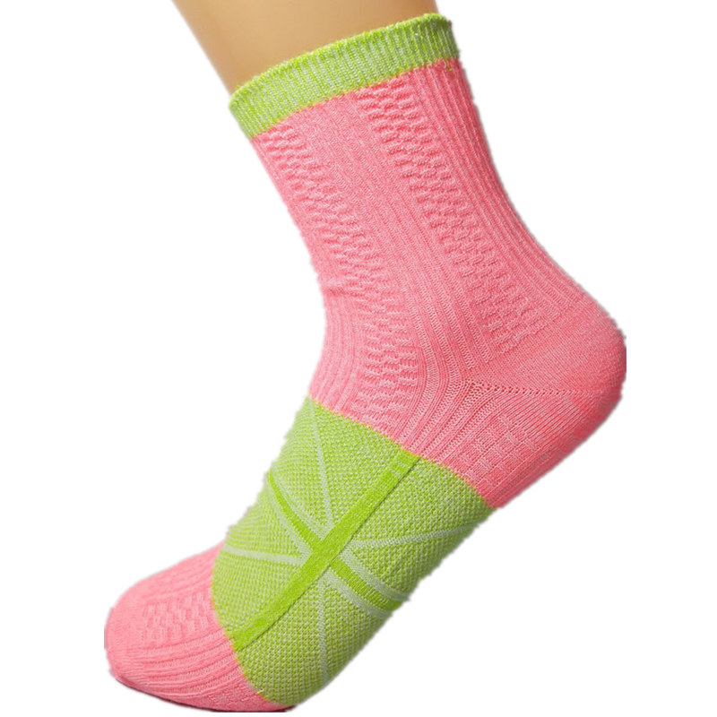 IOLPR 1 pair socks women Rainbow stitching knitted warm ...