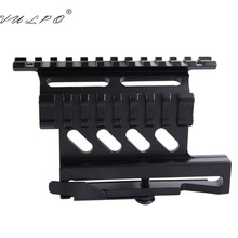 VULPO Tactical quick QD Style Rail Mount AK47 AK74 SAIGA Detach 20mm Weaver rail Side Mount for Hunting Airsoft Scope tactical mount picatinny weaver ak serie rail side mount quick qd 20mm detach double side ak rifle scope sight mount