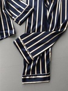 Image 2 - Lisacmvpnel Fashion Women Vertical Stripe Rayon Pajama Set Loose Leisure Spring Pajamas