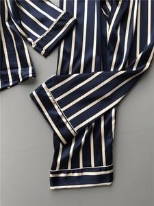 Image 2 - Lisacmvpnel אופנה נשים אנכי פס זהורית פיג מה סט Loose פנאי אביב פיג מה