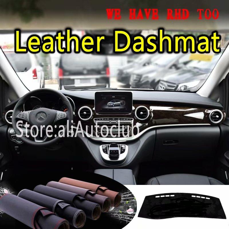 For Mercedes-Benz V Class V200 V250 V220 2015 2016 2017 2019 Leather Dashmat Dashboard Cover Dash Mat Carpet Custom Car Styling