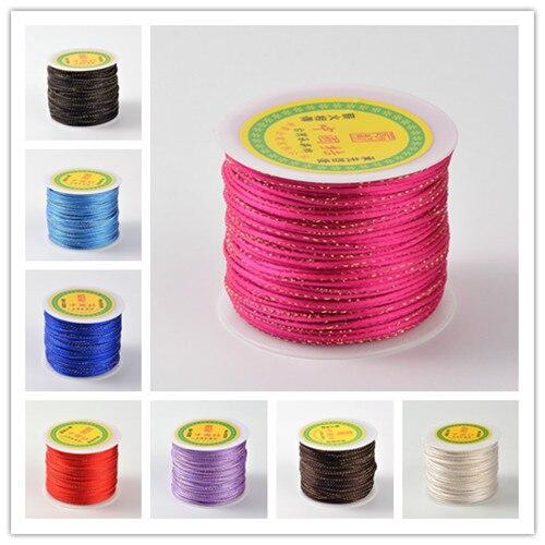 5 M//Cable de Hilo Redondo Rollo Cuerdas ante de imitación Pulsera Joyería Hallazgos 3x1.5mm