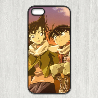 Detective Conan fashion cartoon Cover case for iphone 4 4s 5 5s 5c 6 6s plus samsung galaxy S3 S4 mini S5 S6 Note 2 3 4 z0923