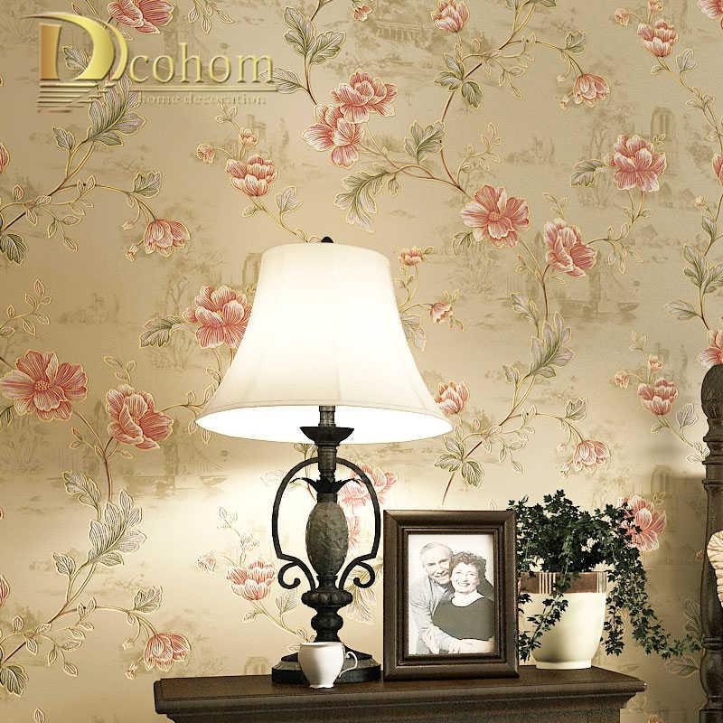 wall Floral Decor Floral Wallpaper Kitchen Wall Decor Flower WallPaper botanical wallpaper Bedroom Decor Bedroom Wall Decor Decor
