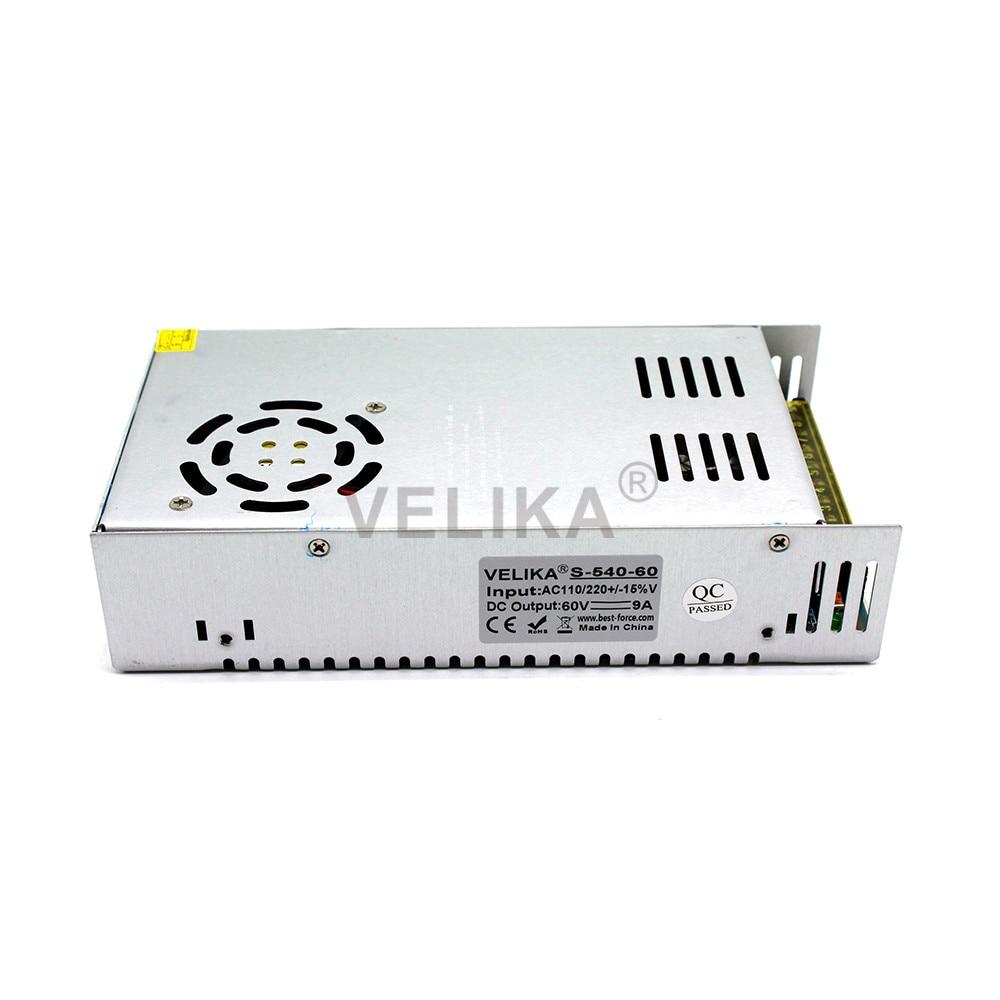 Universal Power Supply DC Regulated 60V 10A 600W Switching Power Adapter Transformer 110V 220V AC to DC60V For CNC CCTV Motor-in Switching Power Supply from Home Improvement    2