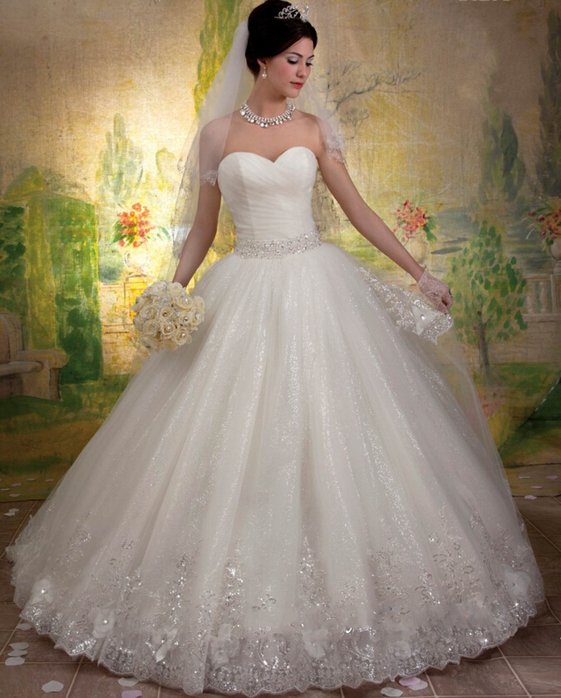 Wedding Ball Gowns Sweetheart Neckline: Princess Style Wedding Dresses 2017 Ball Gown Wedding