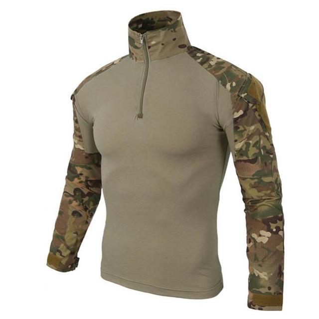 S.archon Camouflage Army T-Shirt Men US RU Soldiers Combat Tactical T Shirt Military Force Multicam Camo Long Sleeve T Shirts