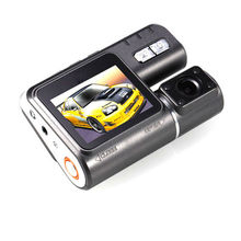 Cámara Del vehículo Del Coche DVR Dash Cámara de Doble Lente Full HD 1080 P 330 grados de Rotación de lente 1200 Mega 2.0 Pulgadas Pantalla Coche Camrecorder