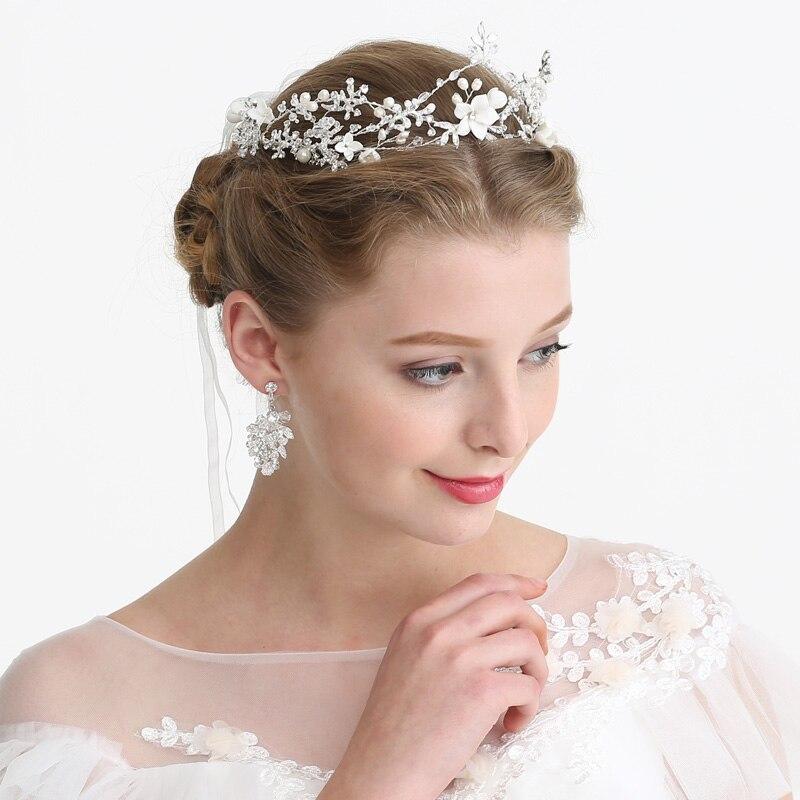 8402a6e29000a US $43.28 |Aliexpress.com : Buy New Fashion Dress Headpiece Wedding Hair  Crown Flower and Rhinestone Princess Headband Crystal Bridal Hair  Accessories ...