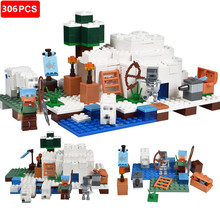 306pcs Minecrafted Building Blocks Ice Polar Igloo DIY Building Bricks Educational Toys For Kids Compatible Legoed Minecrafted