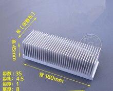 Dissipateur thermique haute puissance en aluminium, 160x45x30/50 / 80 / 100 / 150/200mm, fin d'amplificateur de radiateur