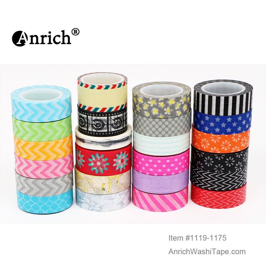 Free Shipping Washi Tape,Anrich Washi Tape #1130-#1229,basic Design,colorful,customizable