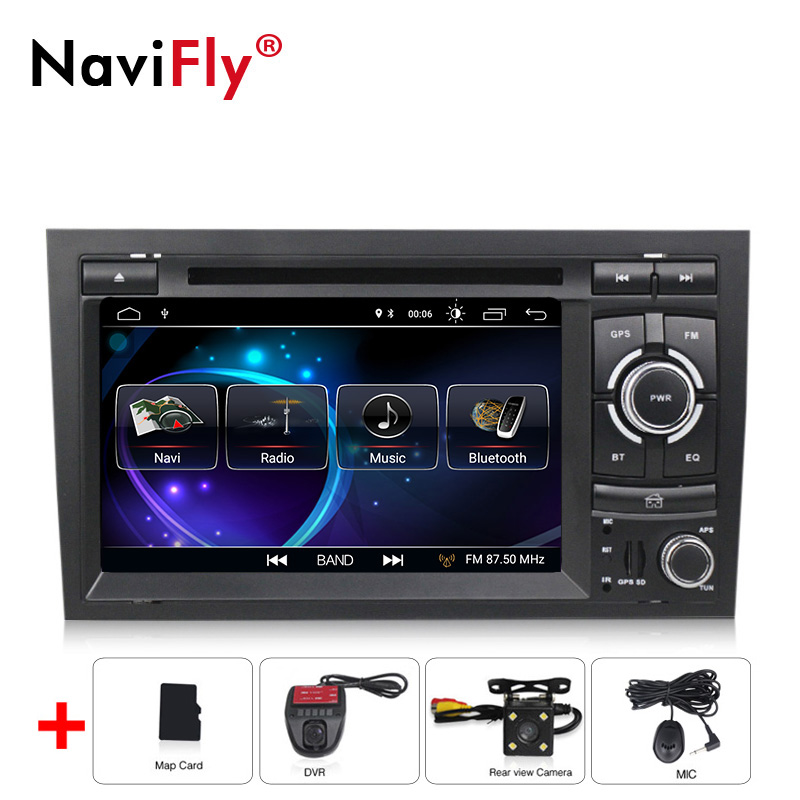 2 Din Android 8.1 Car Gps Radio Dvd Player For Audi A4 S4