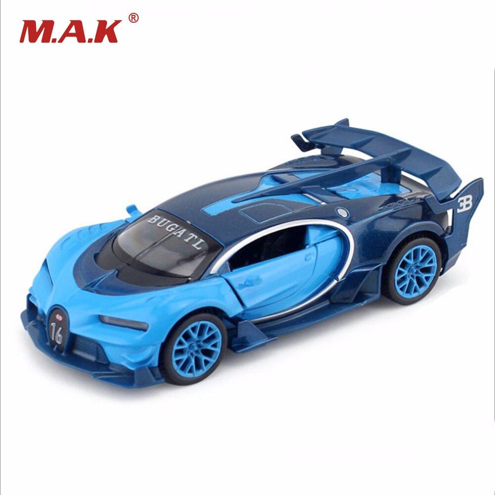 Bugatti gt veyron 1/32 escala diecast modelo de carro 3 cores crianças presentes brinquedos com som e luz coleções brinquedos