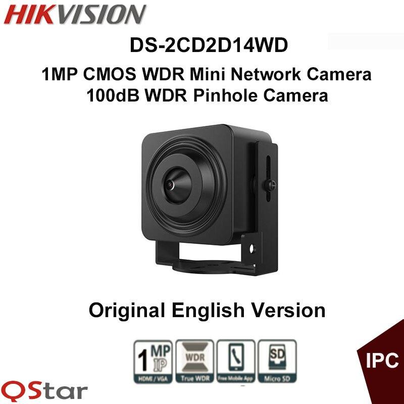 Hikvision Original English Vesion DS-2CD2D14WD 1MP CMOS WDR Mini Network Camera HD720P Video Pinhole Camera CCTV Camera cd диск guano apes offline 1 cd
