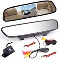 4.3 inch Car Rearview Mirror Monitor Rear View Camera TFT CCD Video Auto Parking Assistance Night Vision Reversing Car-Styling