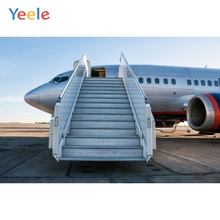 Yeele Airplane Boarding Scene Ceremonial Character Portrait Child Photography Background Photographic Backdrops For Photo Studio