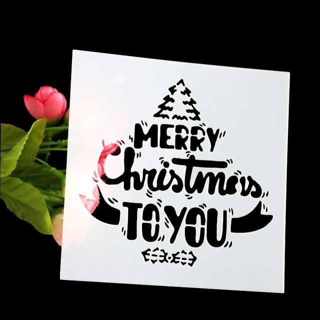 Frohe Weihnachten Schablone.Us 0 89 53 Off Airbrush Malerei Kunst Form Frohe Weihnachten Kunststoff Kuchen Schablone Weiss Diy Mousse Kuchen Fondant Krempe Dekorieren Werkzeuge
