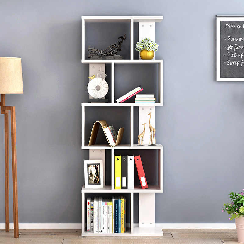 A  High Quality Bookshelf Desk Rack Creative Student Bookcase Living Room Storage Rack DIY Combination Storage Organizer
