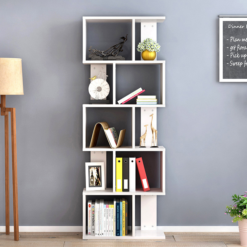 High Quality Bookshelf Desk Rack Creative Student Bookcase Living Room Storage Rack DIY Combination Storage Organizer bookshelf racks simple creative desk small bookcase