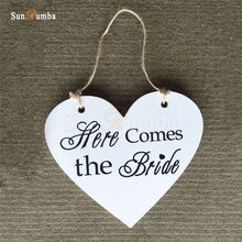 1pcs Rustic Wedding Decor Wooden Heart Hanging Sign Decoration Signs Mariage Party Decorations for Photo Booth