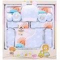 Primavera Verão de algodão do bebê recém-nascido menino roupas pouco de sol infantil terno do bebê roupas de menina outfits calças luvas chapéu bib