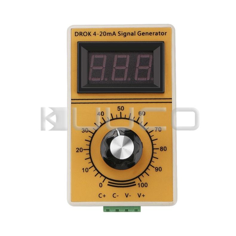 цена на Portable signal generator 4~20mA Constant Current Analog Simulator Adjusting Module with Led Display for inverter control/PLC