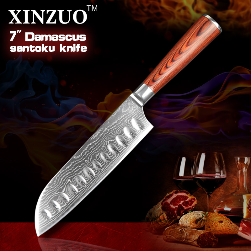 NEW 7 inch Japanese chef knfie 73 layers VG10 Damascus steel kitchen font b knives b