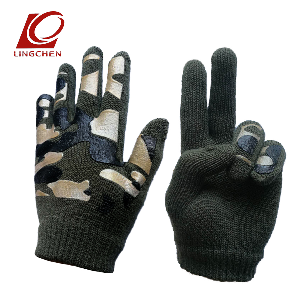 Hot Sales Autumn Winter New Knit Wool Gloves Warm Boys Girls Kids Children Popular Stretch Full Finger Jacquard Weave Mittens