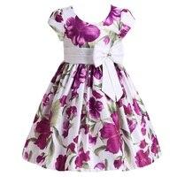 Girls Dress 2017 New Spring Summer Baby Girls Dress Small Flower Pattern Pring Design Sleeveless Girls