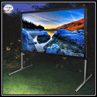 P1VRG, 4:3 Video Heavy duty Portable Fast fold deluxe folding projection screen with rear projection screen