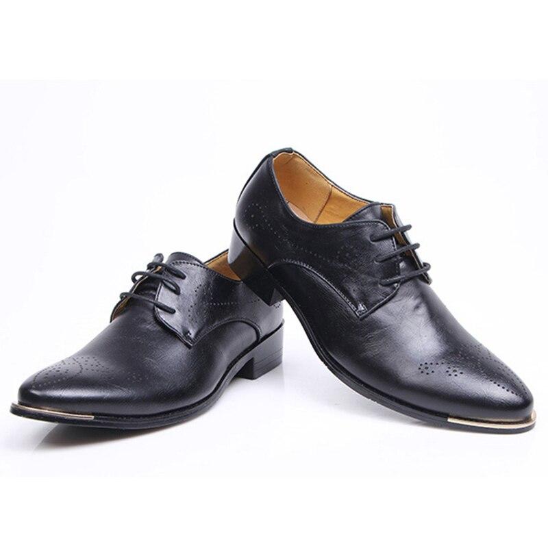 Black Cuir Msw8118111 Élégant Designer Social Robe Hommes En Chaussures brown D'été tqwxzZWS