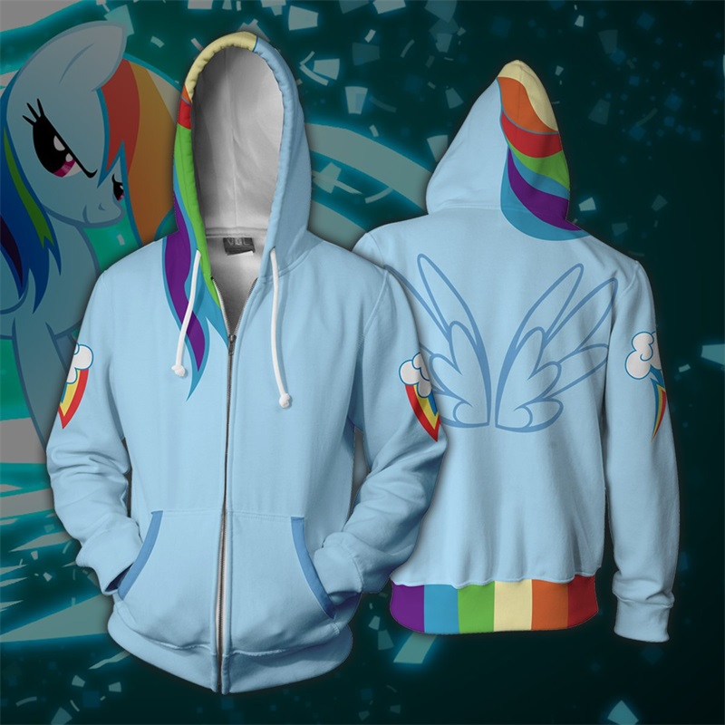 My Cartoon Little Pony 3D Print Hoodies Sweatshirts Cosplay Costumes Hooded Casual Coat Jacket