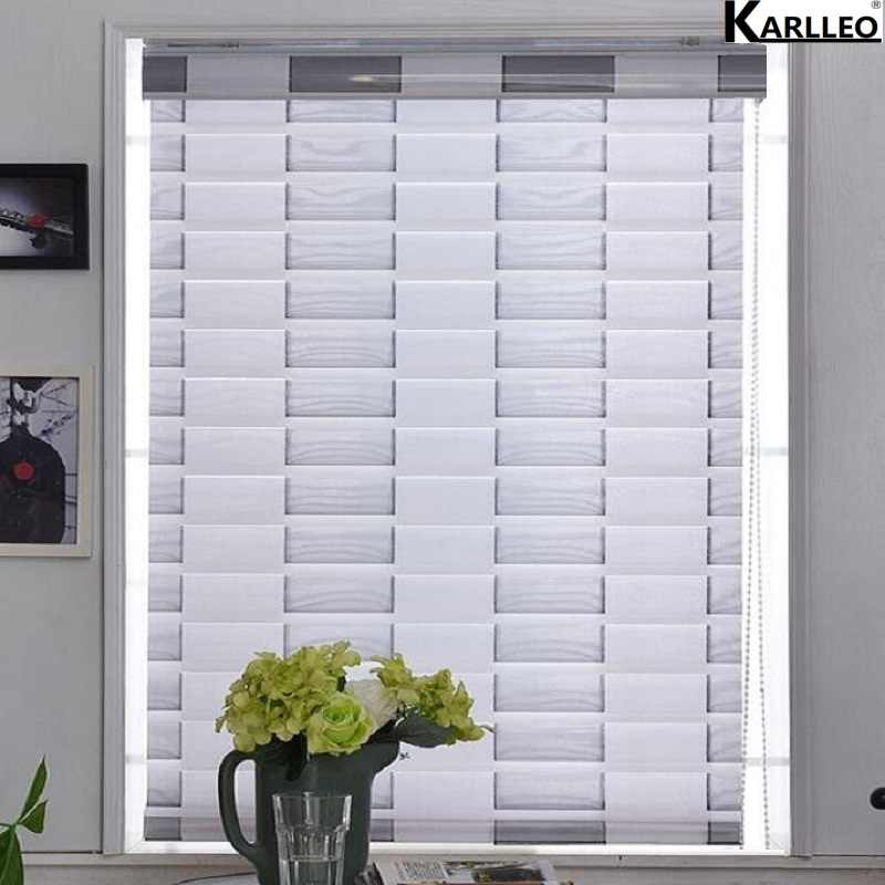 70% Blackout Waterfall Shangrila Roller Blinds Shades Curtain (Manual) OR (Motorize) Customize Size