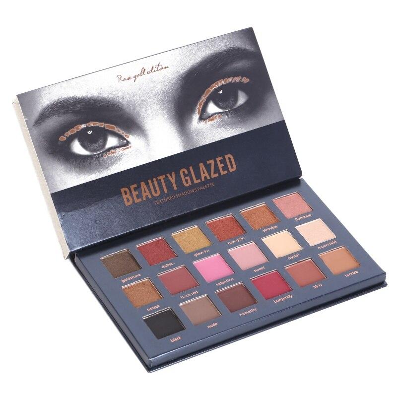 18 color Shimmer Matte Desert Dusk Tutorial Palette Eye shadow Makeup Eye shadow textured Eyeshadow Pallete Cosmetics