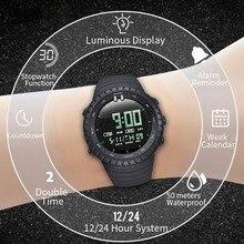 Брендовые мужские часы, Роскошные, калории, шагомер, спортивные наручные часы, водонепроницаемые, светящиеся, электронный браслет, мужские военные часы F4