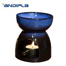 Quemador de incienso Vintage Luz De noche junto a la cama decoración de aceite esencial calentador de velas estufa de Aroma fragancia incensario en polvo para regalos