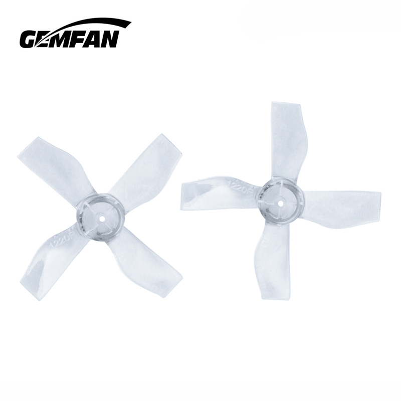 8 Pairs 16PCS Gemfan <font><b>1220</b></font> 1.2x2x4 31mm 1mm Hole 4-blade Propeller for 0703-1103 RC Drone FPV Racing Brushless <font><b>Motor</b></font> Spare Parts image