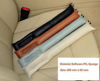 Free Shipping Grey Black Beige Brown Car Seat Cushion Crevice Gap Stopper PU Leather Leakproof Protector car seat cover pad 1