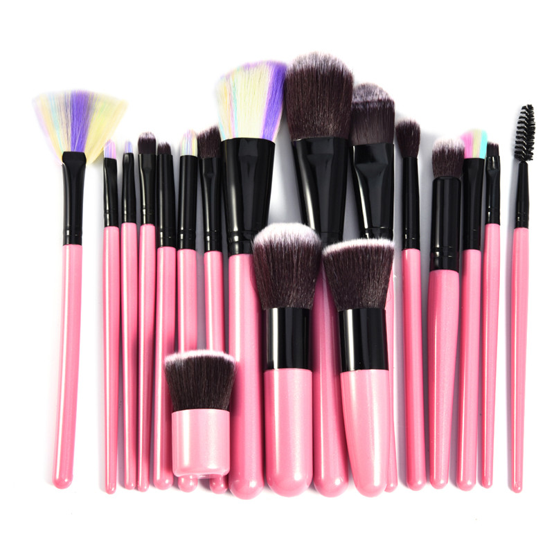 Colorful 18 Pcs Professional Makeup Brushes Set Power Foundation EyeShadow Blush Blending Make Up Beauty Cosmetic Tools Kits Hot 15 pcs professional makeup brushes set power foundation eyeshadow blush blending make up beauty cosmetic tools kits hot