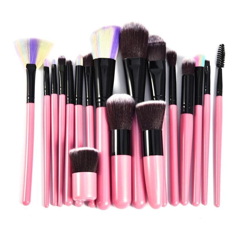 Colorful 18 Pcs Professional Makeup Brushes Set Power Foundation EyeShadow Blush Blending Make Up Beauty Cosmetic Tools Kits Hot