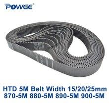 POWGE HTD 5M synchronous belt C=870/880/890/900 width 15/20/25mm Teeth 174 176 178 180 HTD5M  Timing Belt 880-5M 890-5M 900-5M