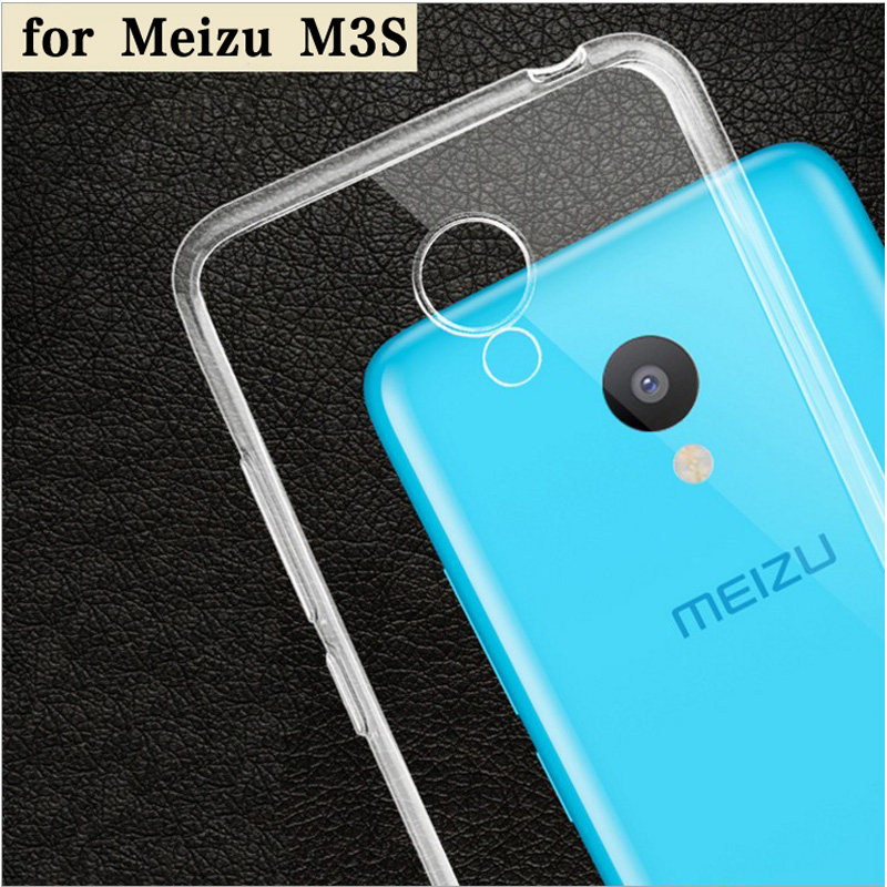 Meizu m3s Case Cover Gennemsigtig TPU Soft Cover Phone Case til Meizu - Mobiltelefon tilbehør og reparation dele