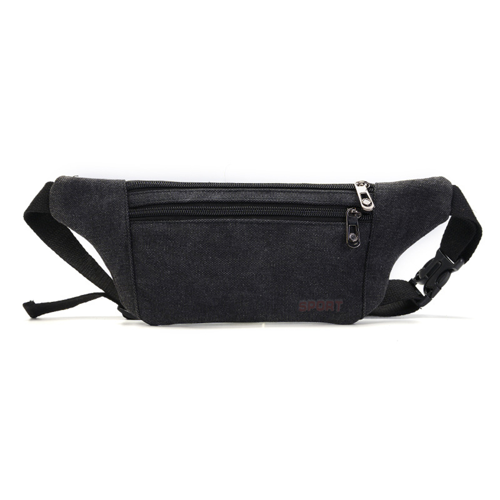 Fashion casual Canvas Fanny Pack Waist Bag Money Belt bags Phone Bags For Man Women chest bag zipper canvas waist chest pack