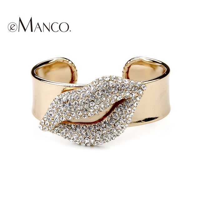 2016 Pulseira Indian Jewelry Emanco Brand America And Europe Popular Full Lips Fashion Bracelets For Women Jewelry BL03907