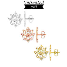 Rose Gold/Gold/Silver Color Lotus Flower Stud Earrings for Women Thomas Style Hollow Out Ear Stud Fashion Jewelry 2018 New