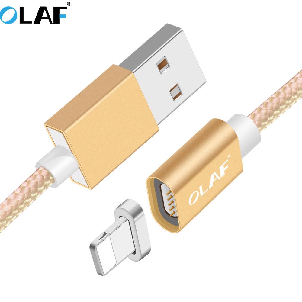 OLAF Magnetic Cable For iphone 8 7 6 5 S Fast Charger Chargi