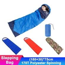 Portable 1kg Travel Camping Envelope Sleeping Bag Outdoor Waterproof Sleep Beds Compression Lightweight Hiking Sleeping Bag недорого