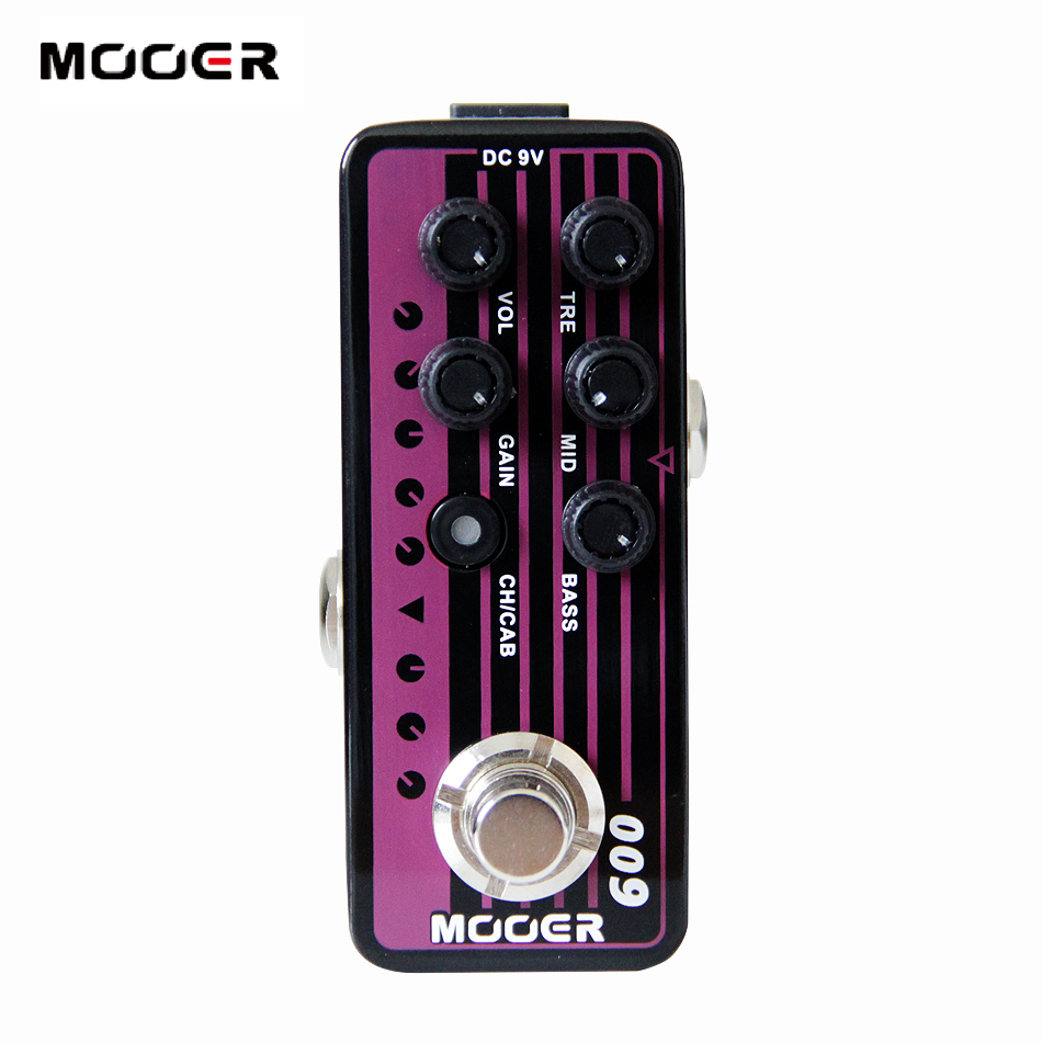 Guitar Effect MOOER 009 Blacknight Digital Preamp electric guitar pedal High quality dual channel preamp Independent 3 band EQ mooer 009 blacknight high quality dual channel preamp 2 different modes for footswitch operation guitar effect guitar