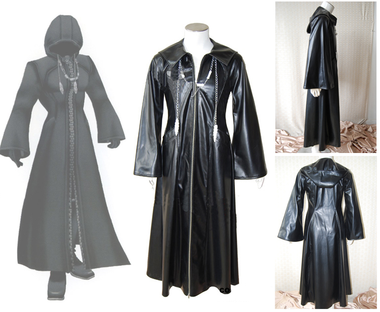 Organization XIII Kingdom Hearts 2 Cosplay Costume Black Coat Halloween Costumes